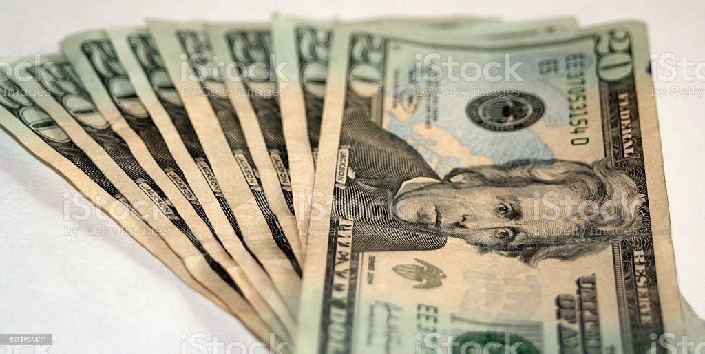 Twenty Dollar Bills royalty-free stock photo