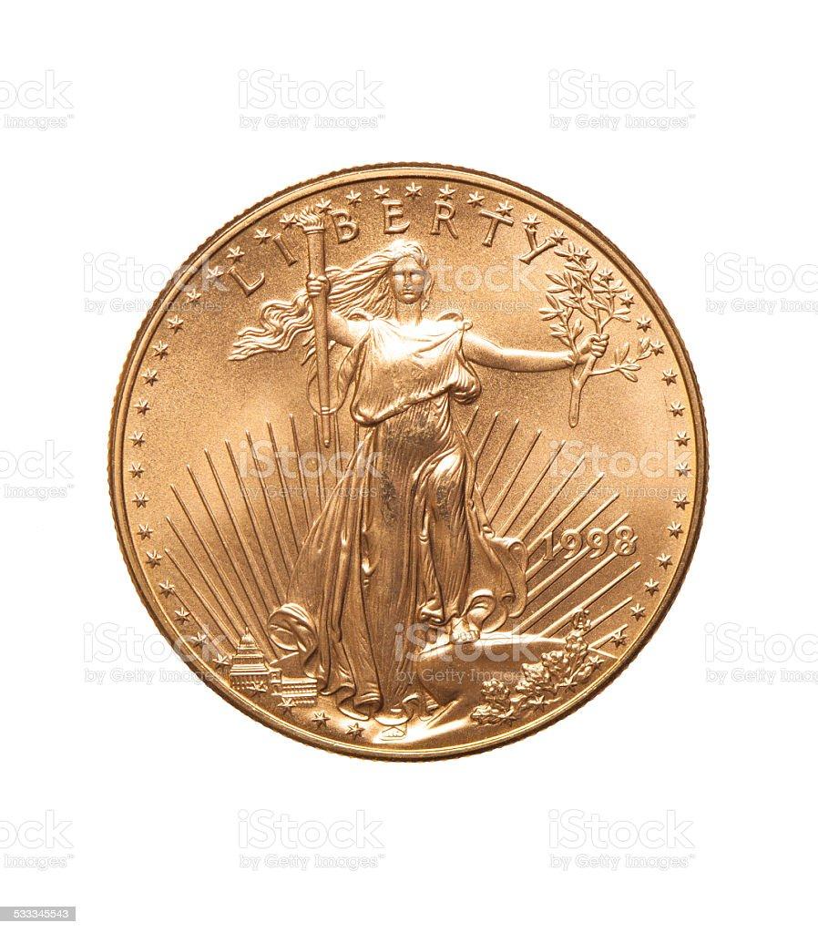 Twenty Dollar Gold Coin stock photo