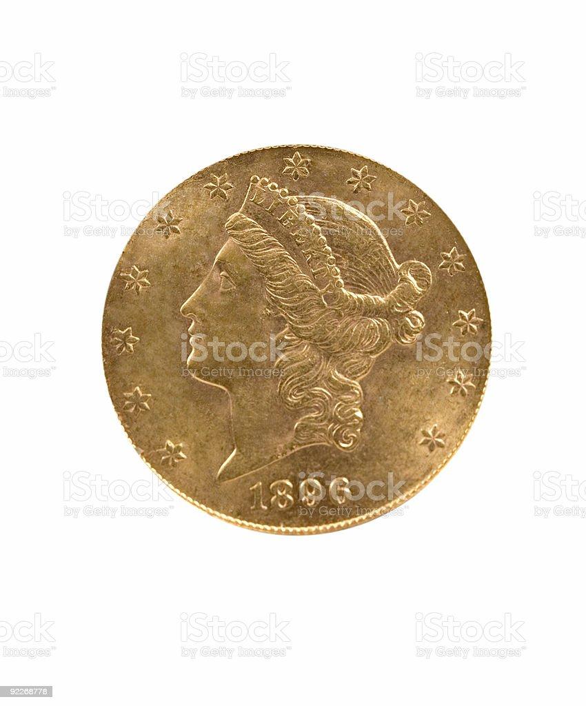 Twenty Dollar Goldpiece royalty-free stock photo