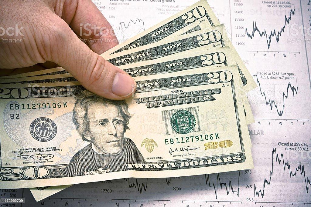 Twenty Dollar Notes royalty-free stock photo
