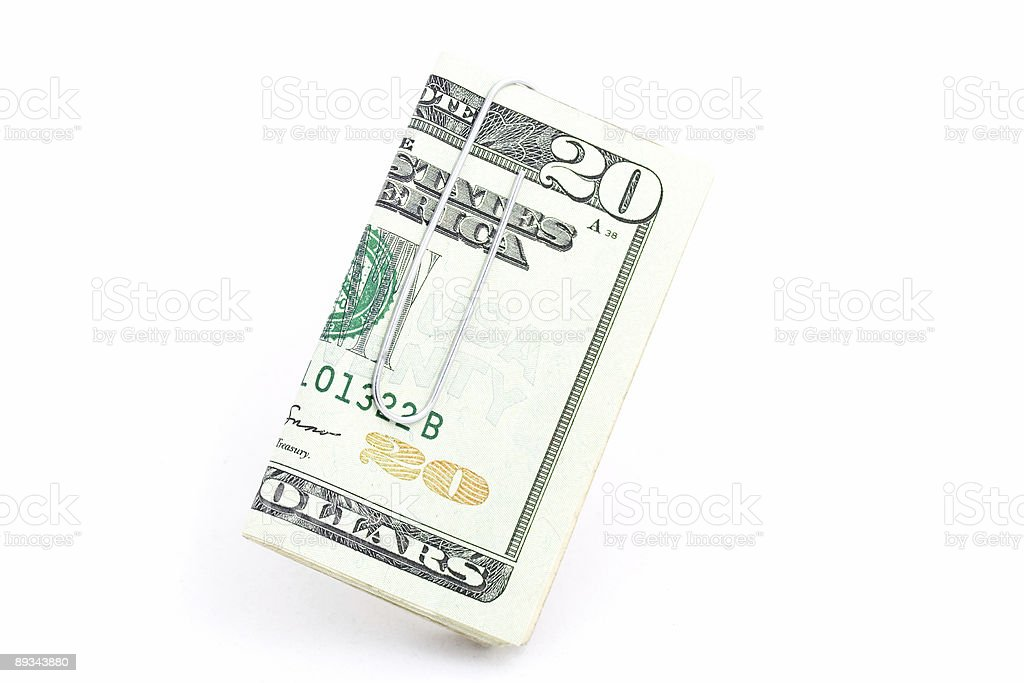 Twenty Dollars stock photo
