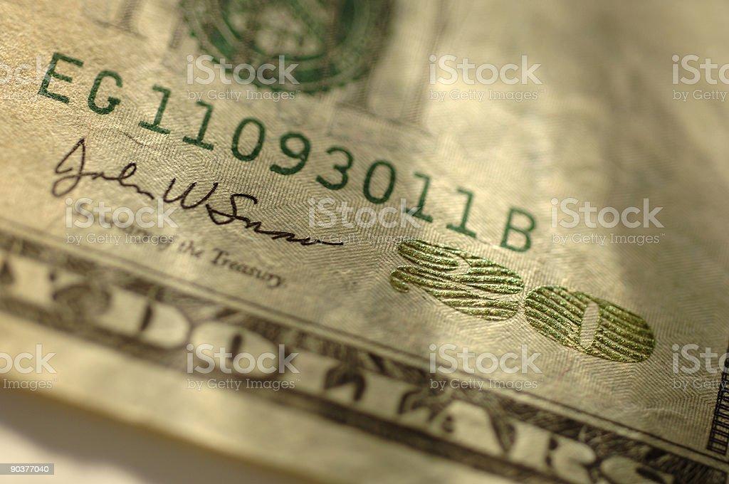 Veinte dólares foto de stock libre de derechos