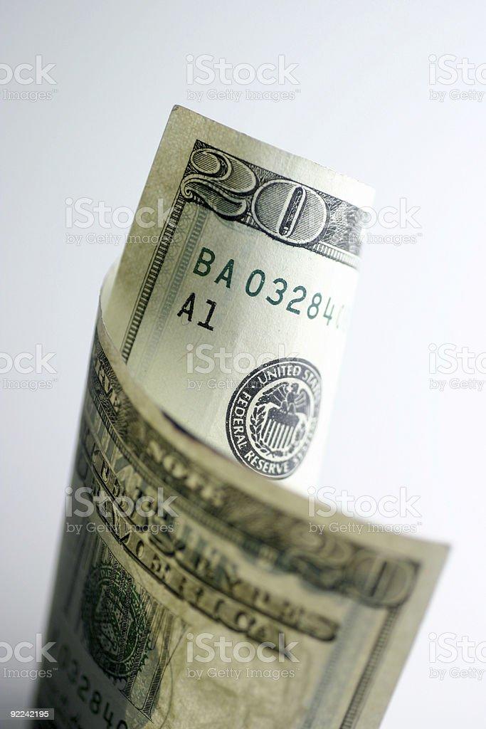 Twenty dollars royalty-free stock photo