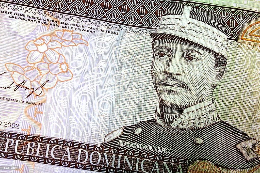 Twenty Dominican Pesos royalty-free stock photo