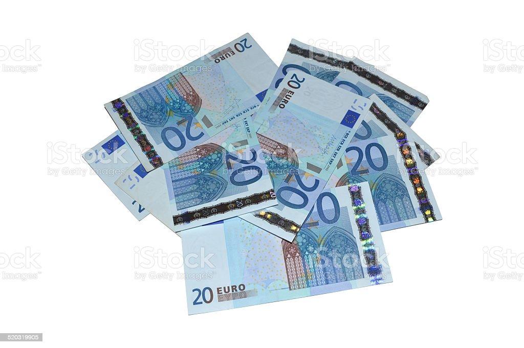 Veinte moneda europea foto de stock libre de derechos