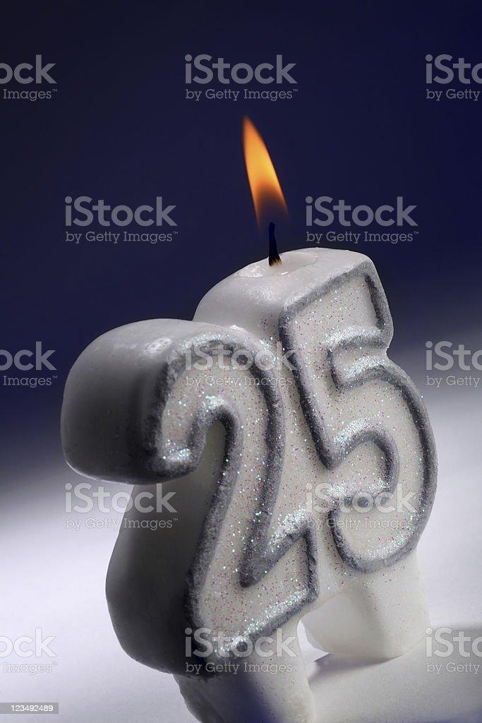 twenty fifth anniversary or birthday stock photo