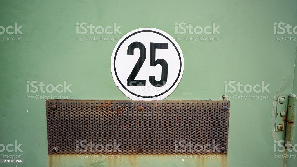 Twenty five sticker stock photo