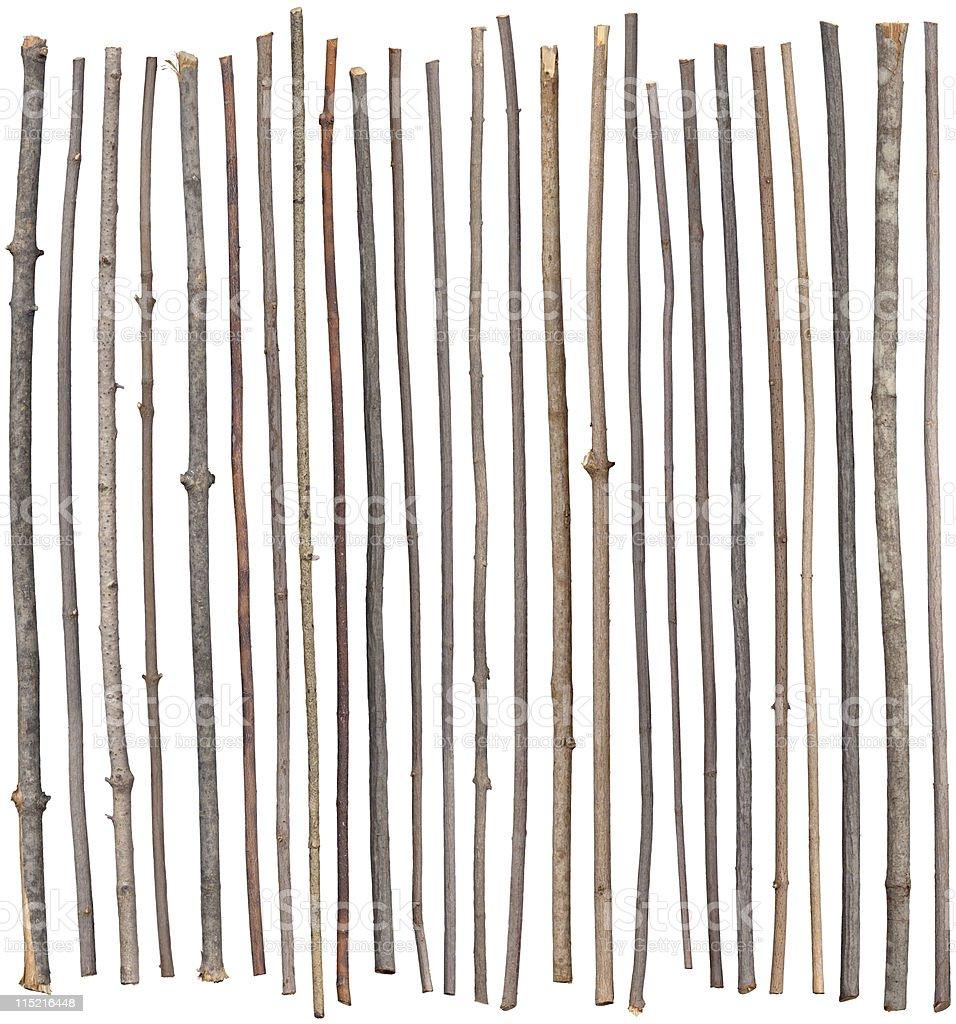 Twenty Five Sticks royalty-free stock photo