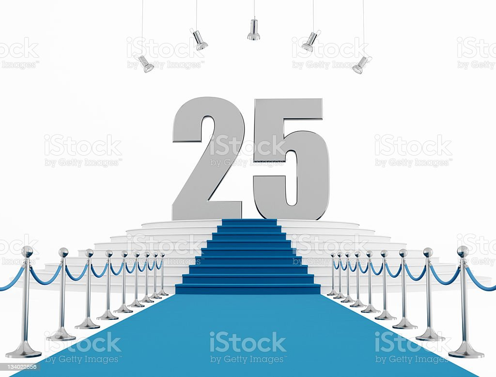 twenty five year anniversary stock photo