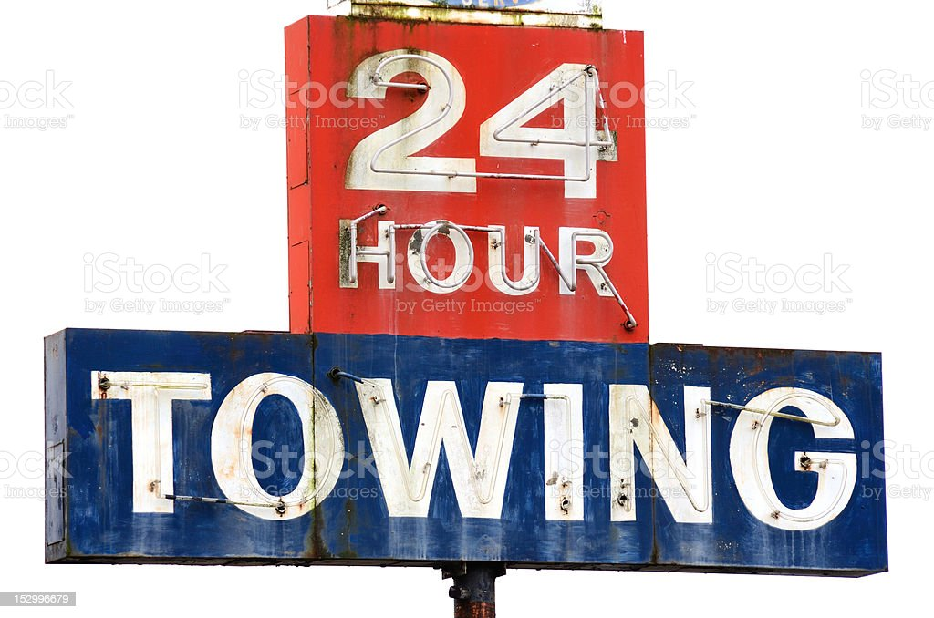 Twenty Four hour towing stock photo