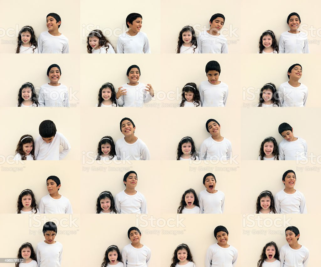 Twenty high-resolution images of brother and sister stock photo