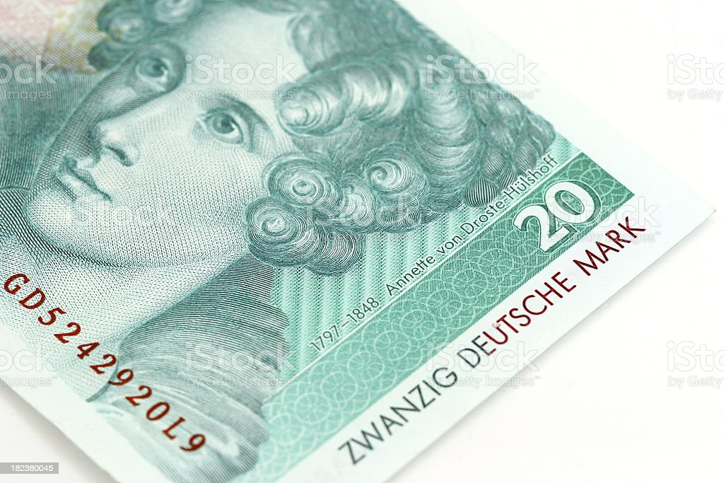 Twenty Mark Bill royalty-free stock photo