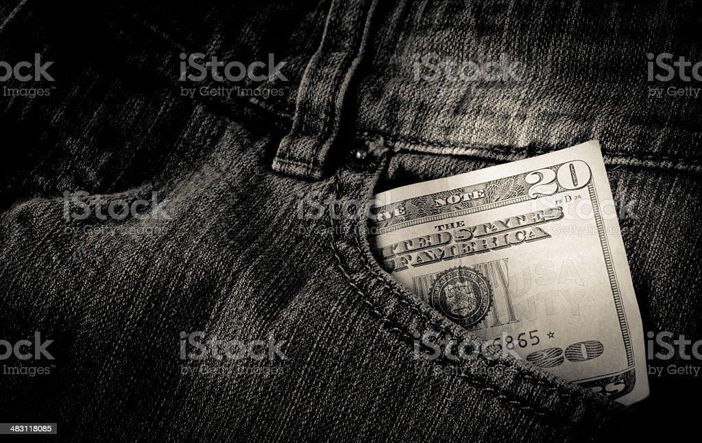 Twenty Money stock photo