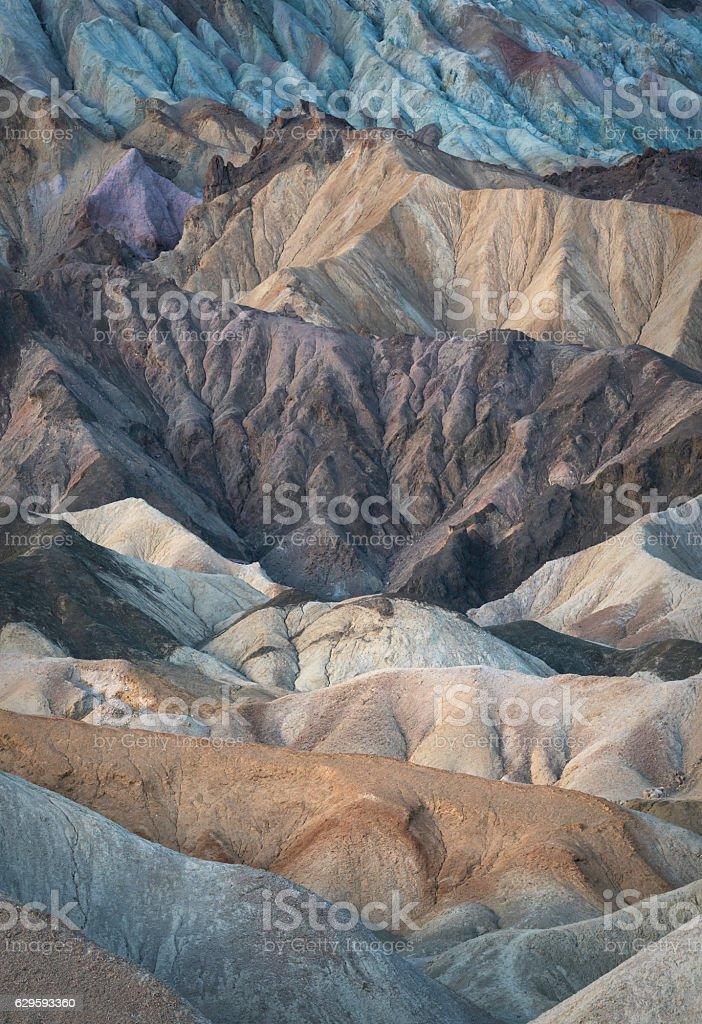 Twenty Mule Canyon Badlands Death Valley stock photo