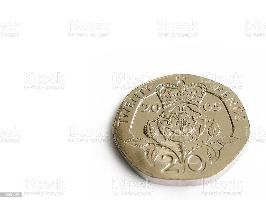 Twenty Pence Coin royalty-free stock photo