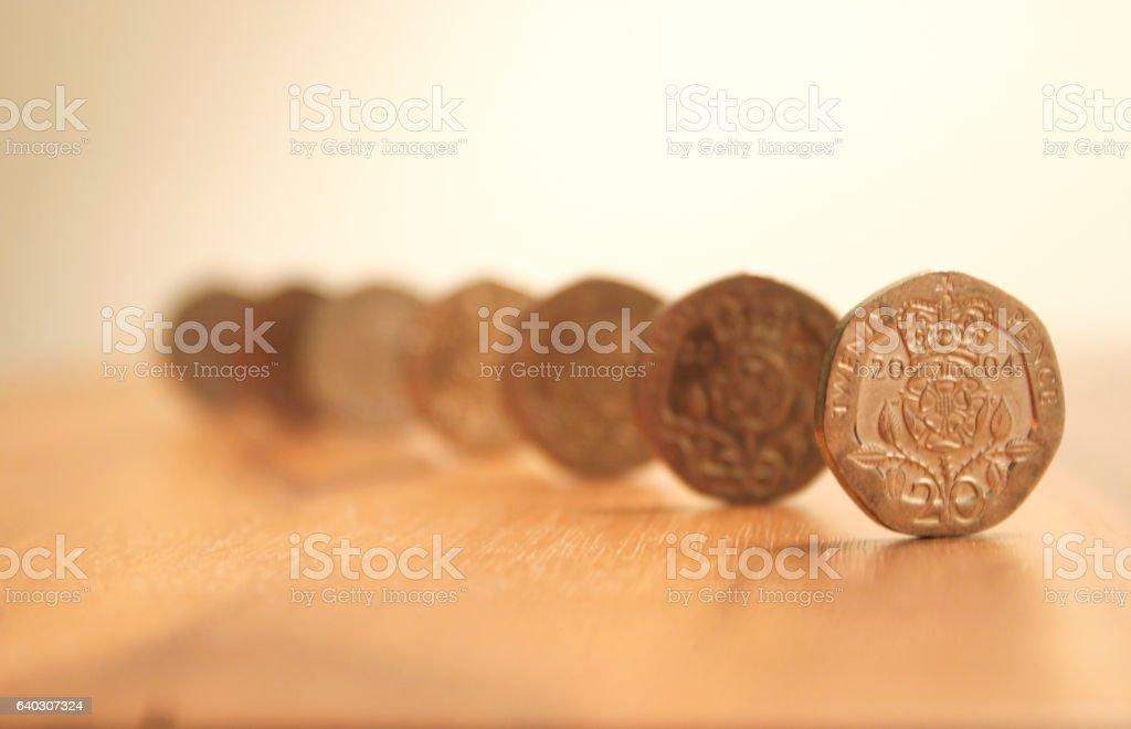 Twenty Pence stock photo