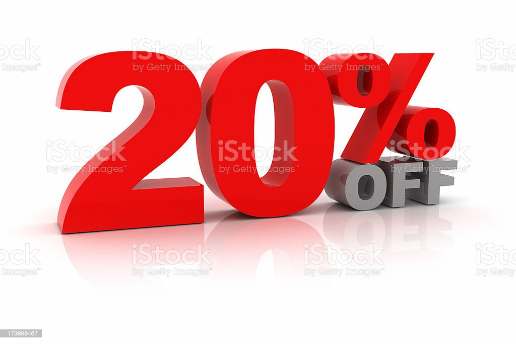 Twenty Percent Off royalty-free stock photo