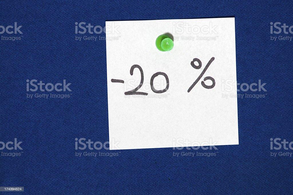 Twenty Percent Off royalty-free stock photo