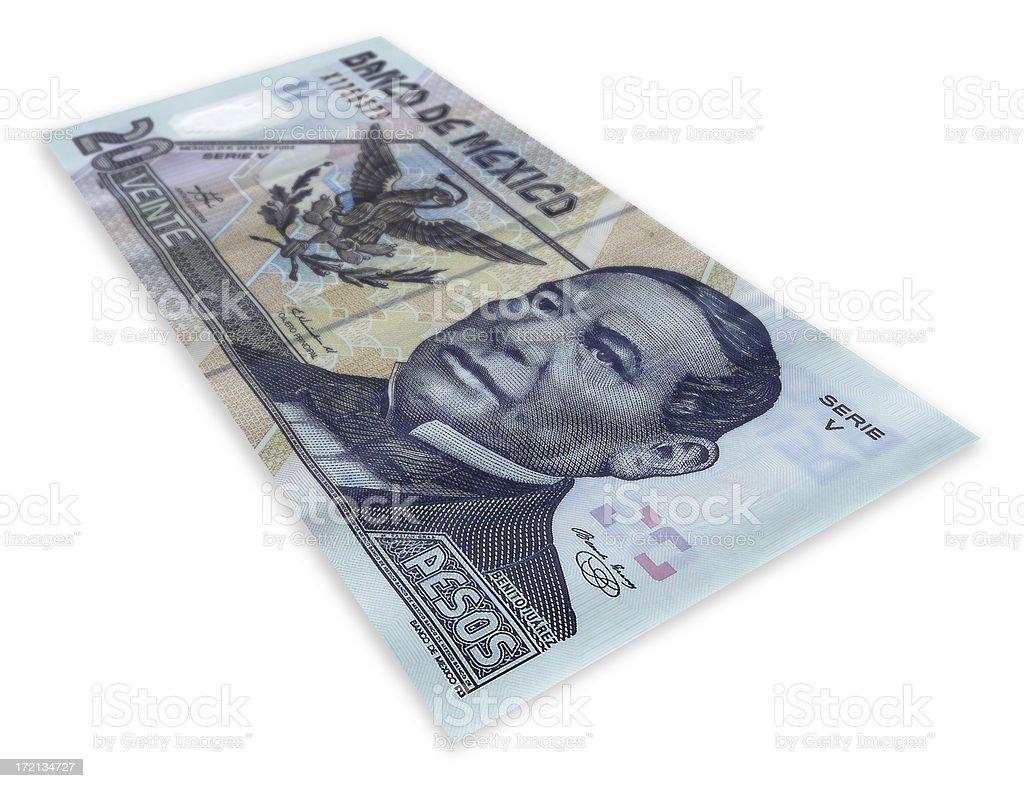 Twenty pesos stock photo