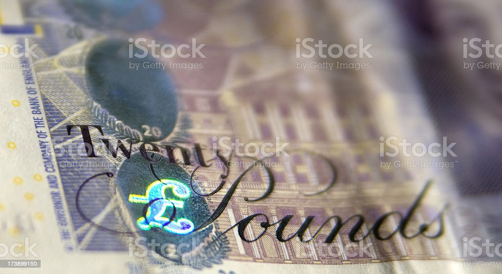 Twenty Pound Note royalty-free stock photo