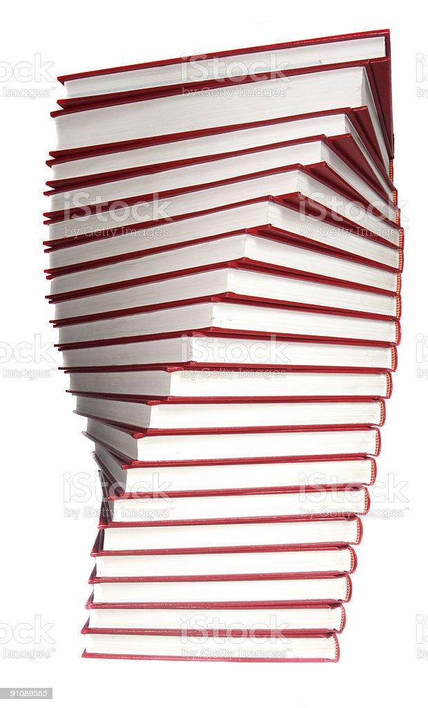 Twenty Red Books royalty-free stock photo