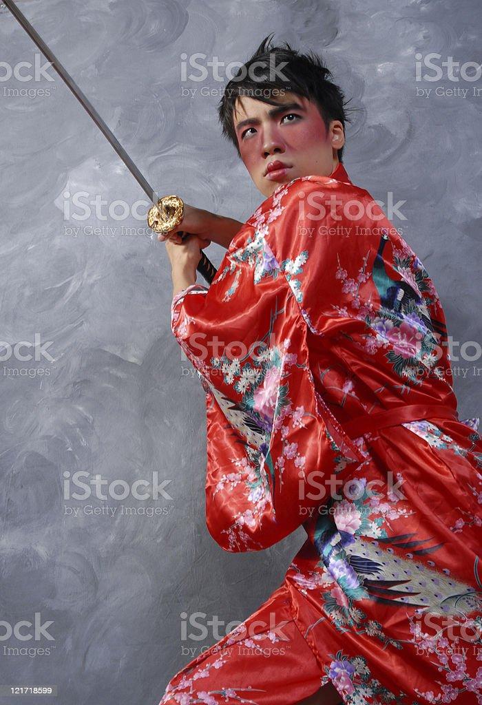 Twenty Second Century Dynasty Warrior stock photo
