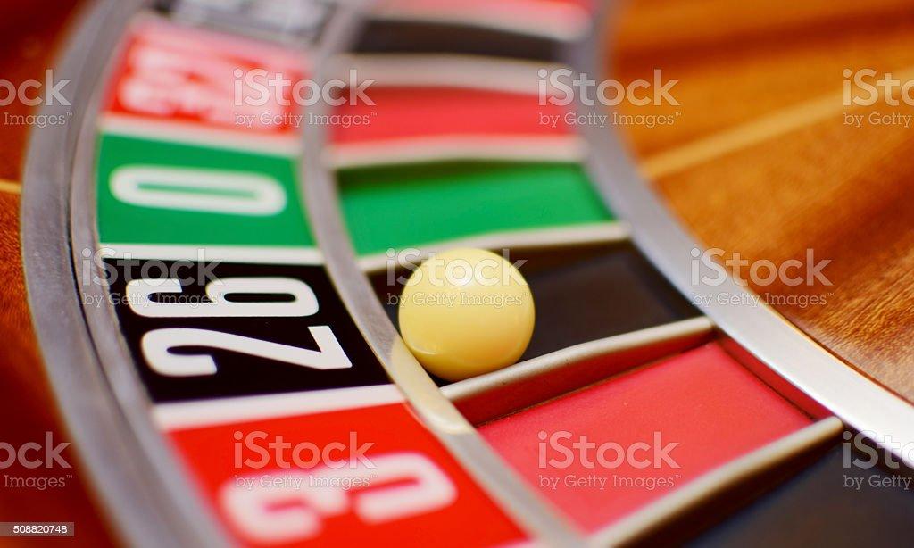 twenty six roulette stock photo