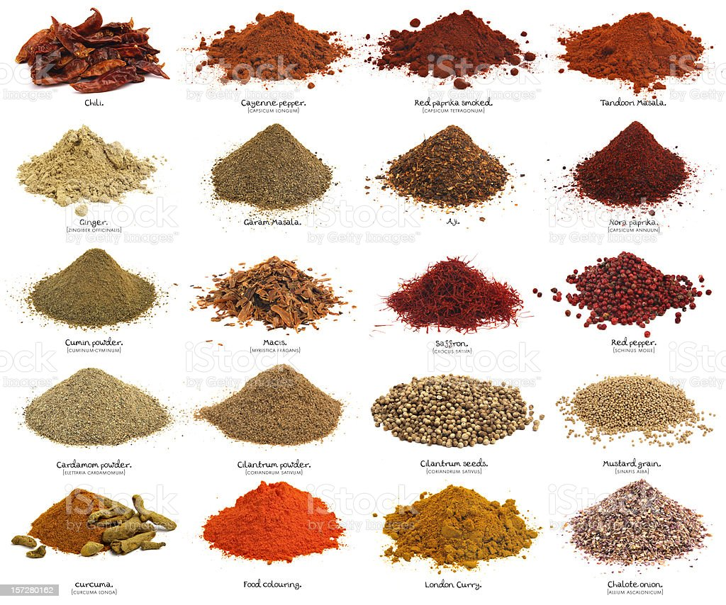 Twenty spices. XXXL. First part. stock photo