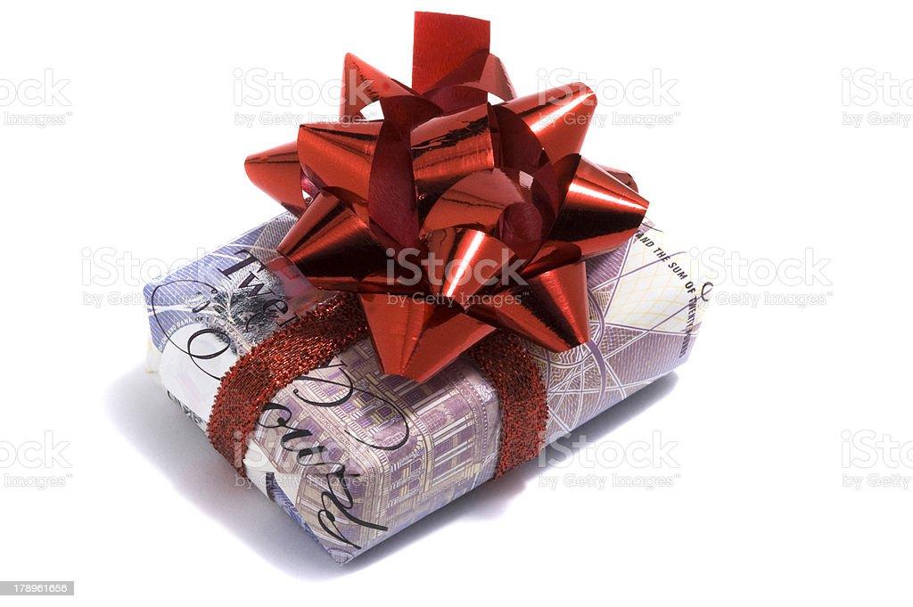 Twenty sterling gift royalty-free stock photo