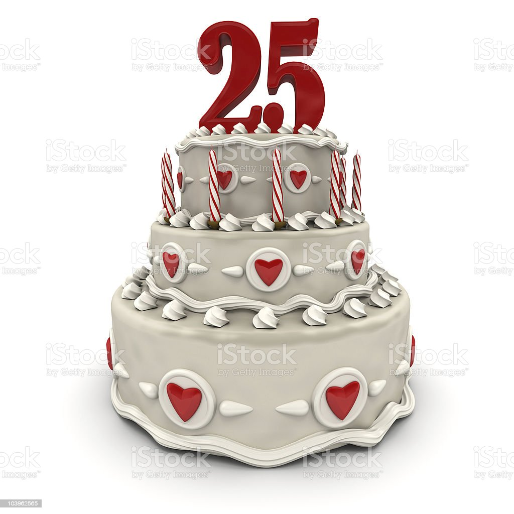 Twenty-fifth anniversary stock photo