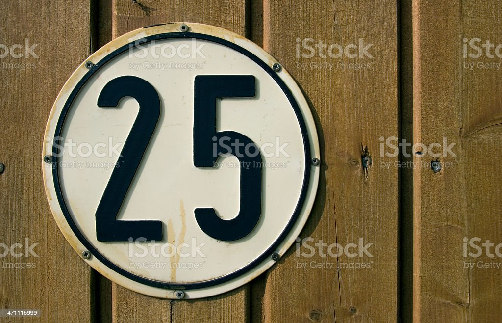 Twentyfive royalty-free stock photo