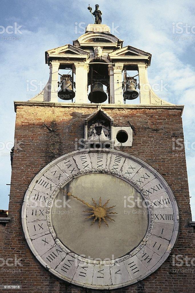Twenty-Four hour Clock of San Giacomo di Rialto, Venice stock photo