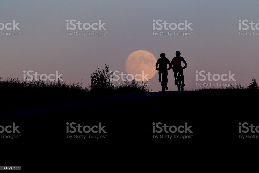 Twenty-Four Hour Mountain Bike Race stock photo