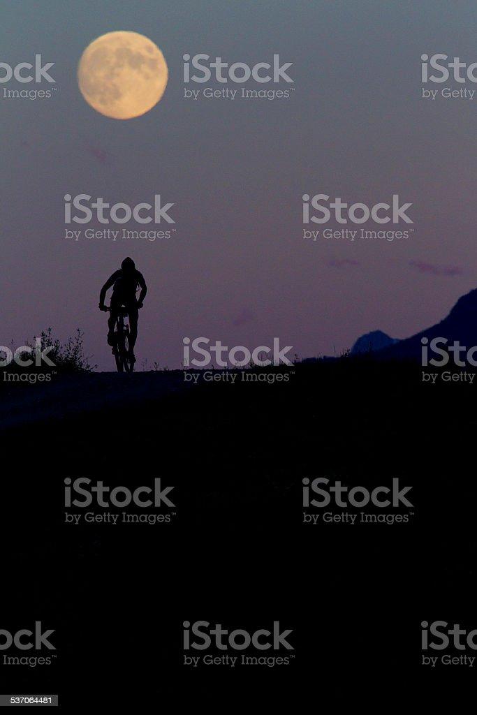 Twenty-Four Hour Mountain Bike Race stock photo