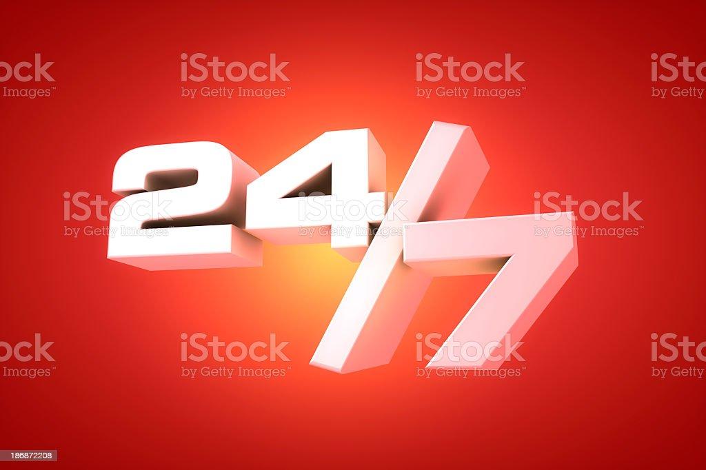 Twenty-Four/Seven royalty-free stock photo