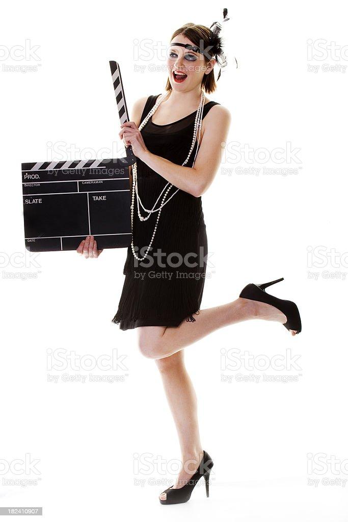 twentys film girl stock photo