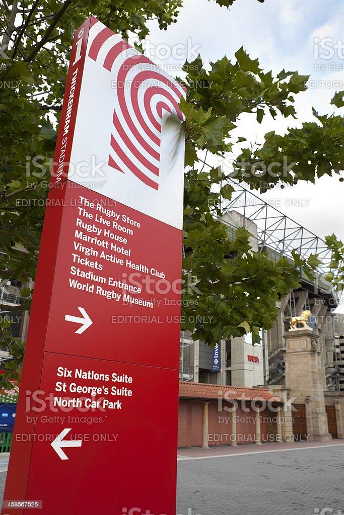 Twickenham Stadium Signage (XXXL) stock photo