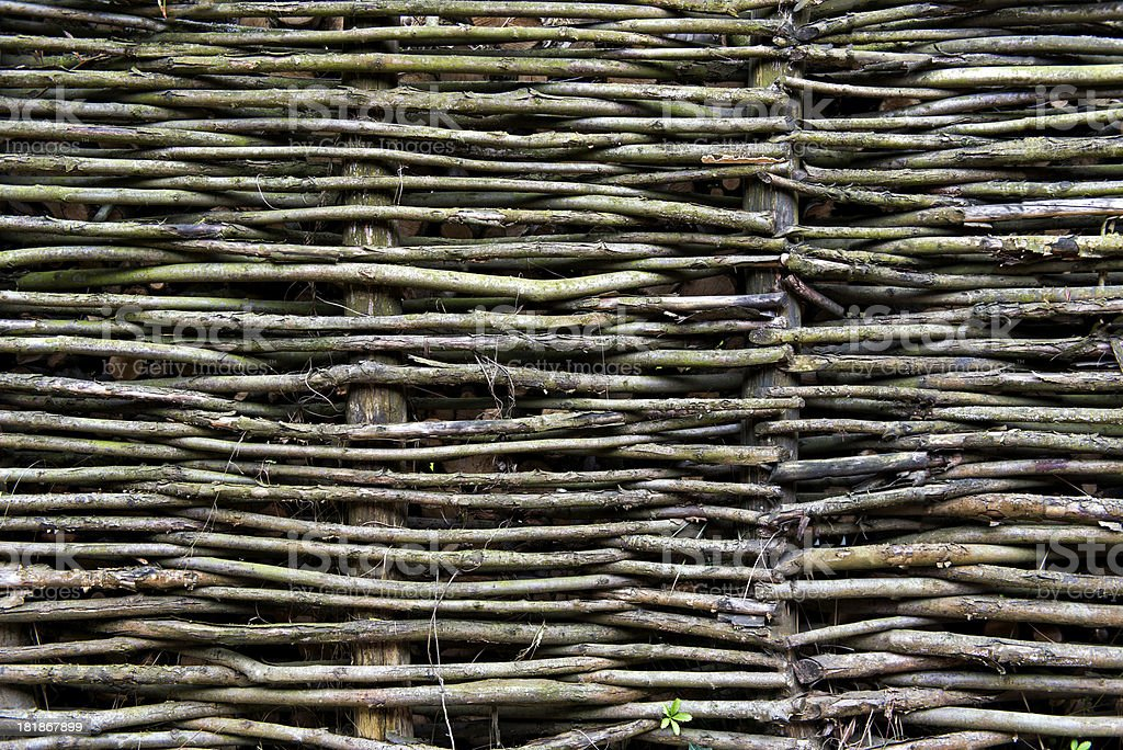 Twig Fence royalty-free stock photo