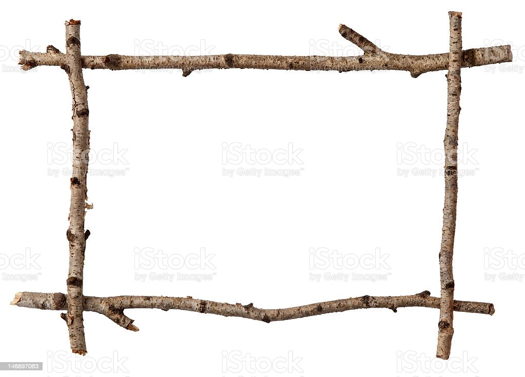 Twig frame stock photo