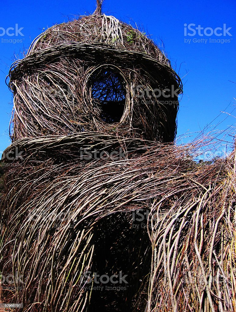 Twig house with dark blue sky royalty-free stock photo