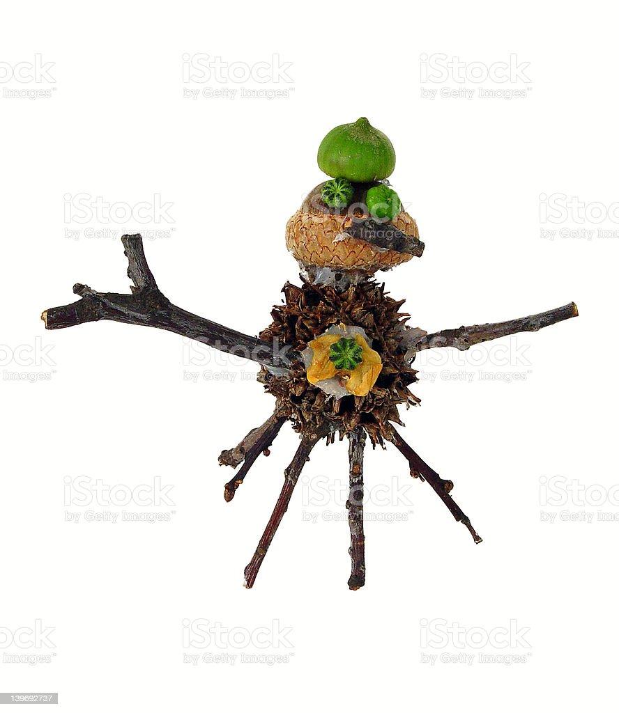 Twig-Man stock photo