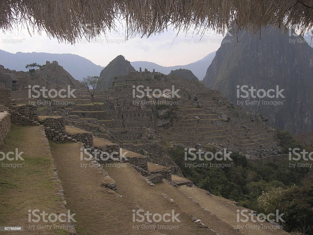 Twilight at Machu Picchu stock photo