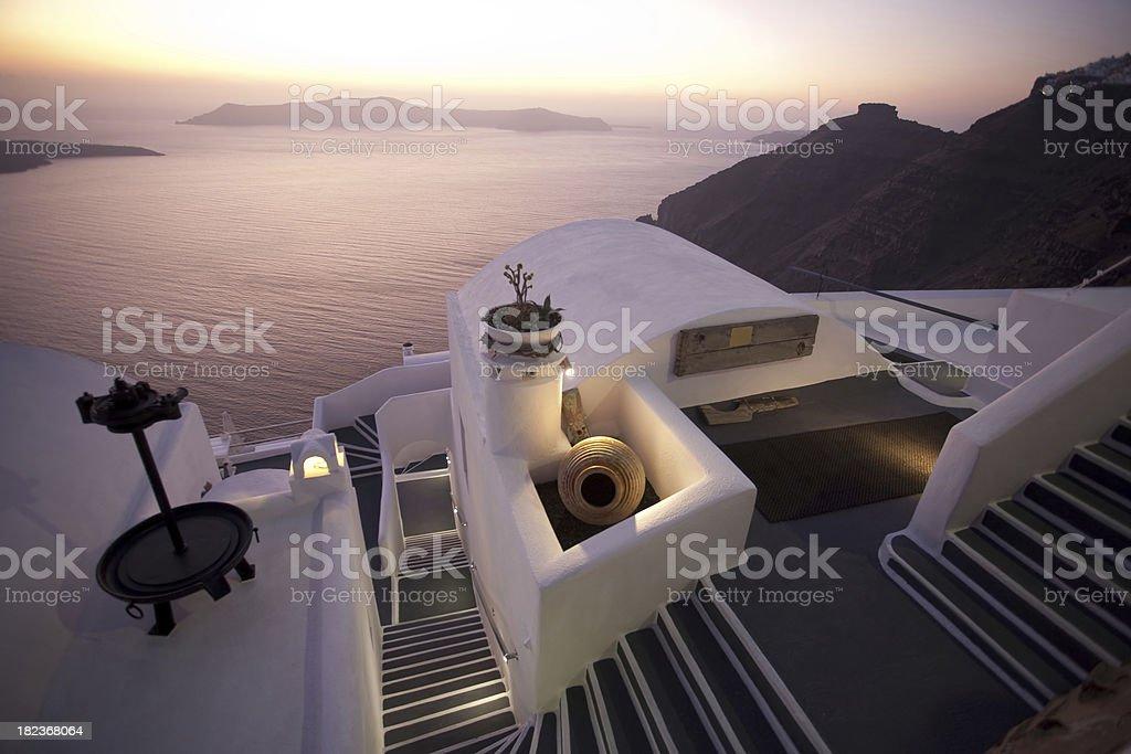 Twilight at Santorini royalty-free stock photo