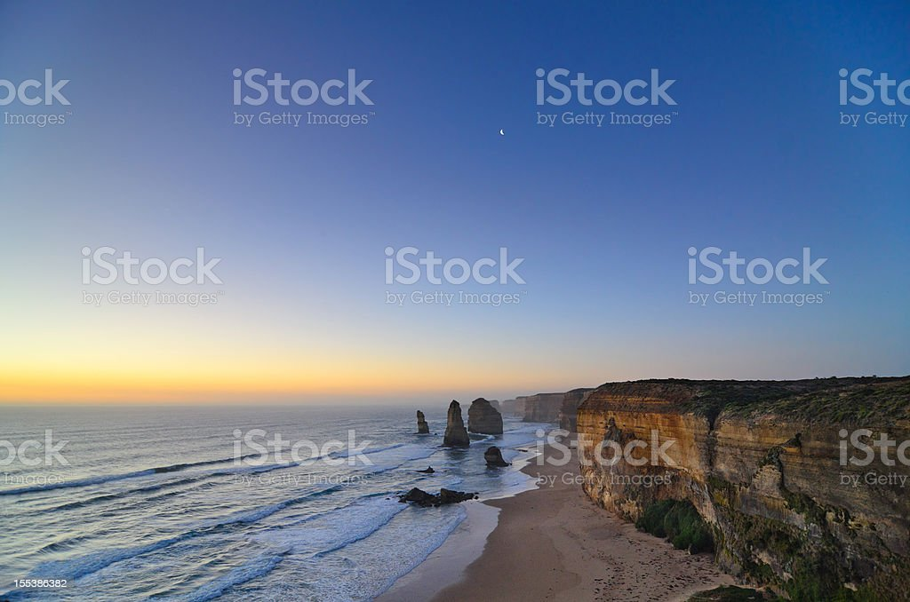 Twilight at the Twelve Apostles (Australia) royalty-free stock photo
