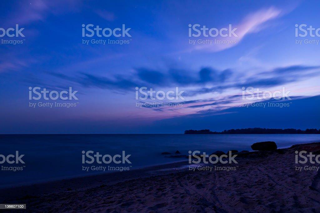 Twilight Beach royalty-free stock photo