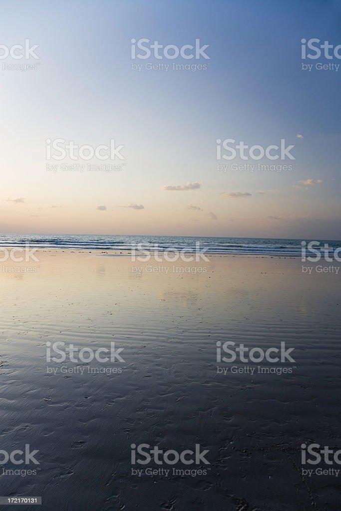 Twilight Beach Unites Arab Emirates royalty-free stock photo