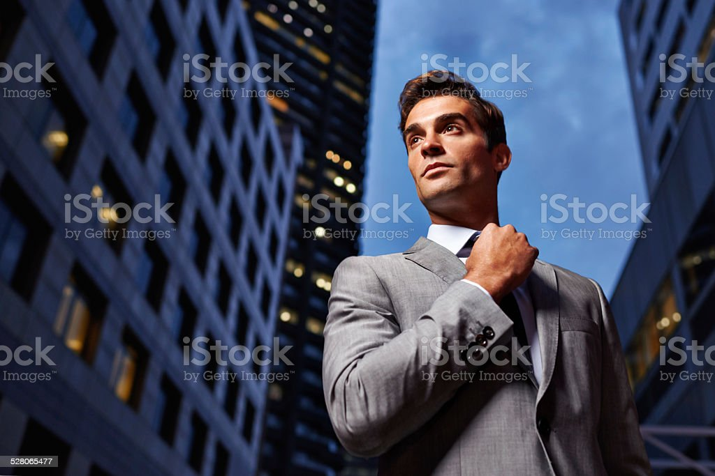 Twilight business style stock photo