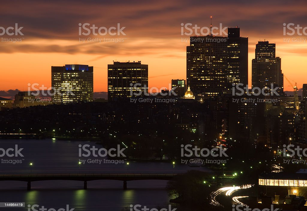 Twilight Dawn Citiscape royalty-free stock photo