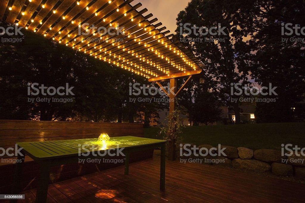 Twilight Deck stock photo