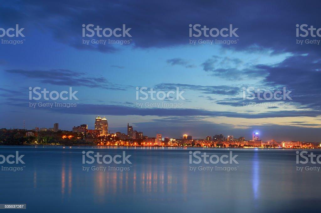 Crepúsculo Dnipropetrovsk foto de stock libre de derechos